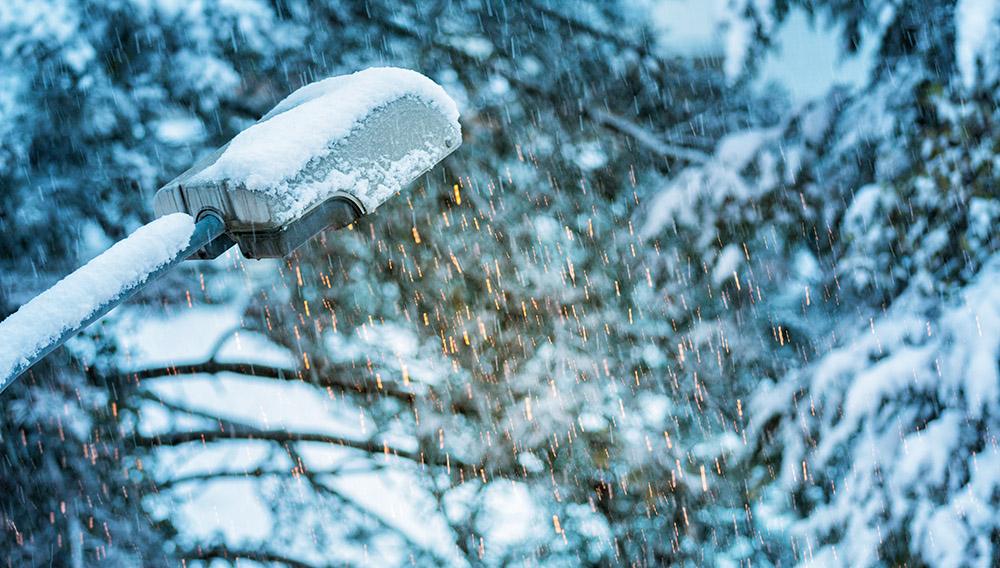 neige-lampadaire